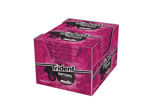 Trident Senses Berry- Chicles sin Azúcar con Sabor a Frutos