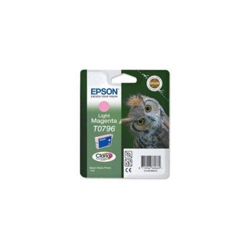 Epson C13T07964020 - Cartridge Magenta Clear - Tintenpatrone Light Magenta T0796 Claria Photographic Ink für Stylus Photo 1400 / PX700W / 800FW