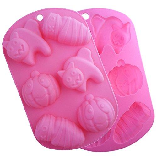 JasCherry Paquete de 2 Molde de Silicona de Halloween, Moldes con formas...