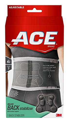 ACE Deluxe Back Stabilizer with Lumbar Support Back Brace Adjustable