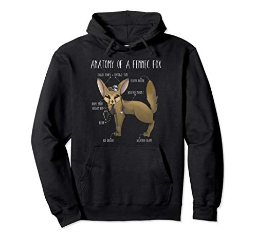 Anatomy Of A Fennec Fox Cute Gift Animal Humor Fennek Fuchs Pullover Hoodie