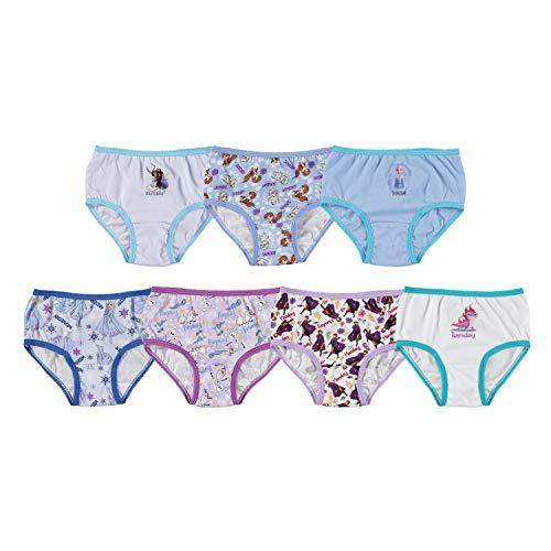 Girls' 7pk Frozen 2 'Day of the Week' Bikini Briefs Underwear - 6
