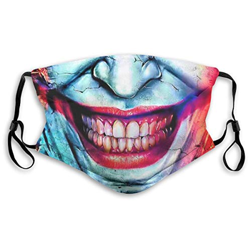 Smiling Face Washable Reusable Dust Filter and Reusable Mouth Warm Windproof Cotton Face