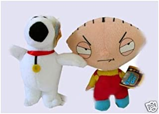 2pc Family Guy Stewie Brian Griffin Dog Plush Doll 12