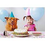 FunPa Party Pappteller, 48 Stück DIY Bunt Pappteller 7''Pappschale Partyteller Partyset für Kindergeburtstag Party Geschirr Set Einwegteller für Feste und Feiern wie Geburtstag oder Grillabend - 5