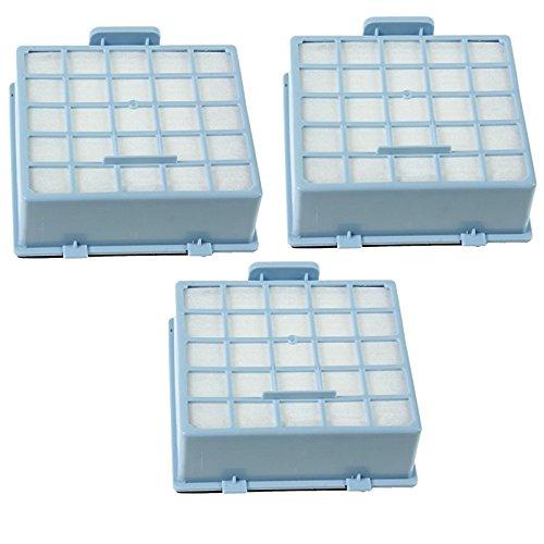 SPARES2GO Hoge Filtratie HEPA Filter Cassette voor Bosch Stofzuigers (Pak van 3, Blauw)