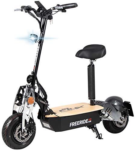 Scooter eléctrico original E-Flux Freeride X2, 2000W, 60V, con permiso de circulación, 6 neumáticos extragrandes y resistentes de 13 x 5, negro y dorado