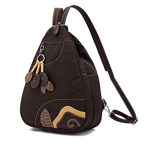 GANADARA Sling Mini Waterproof Backpack - Nylon Bag for Women