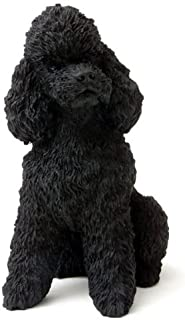 Poodle Sportcut Dog Figurine - Black