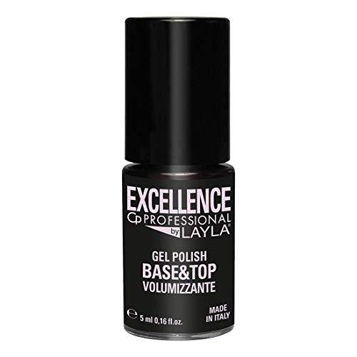 Excellence By Layla - Base y Capa Protectora - 2 en 1 Esmalte de Uñas Semipermanente Profesional - Con Acción de Volumen, Nivelación y Relleno - Paso 3 - Envase de 5 ml