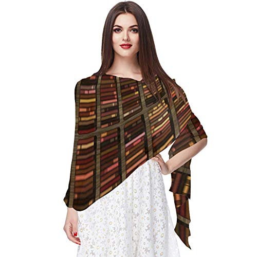 Estantería de la Biblioteca Bufanda Bufandas Infinity Lightweight Long Sheer Wrap Shawl for Women