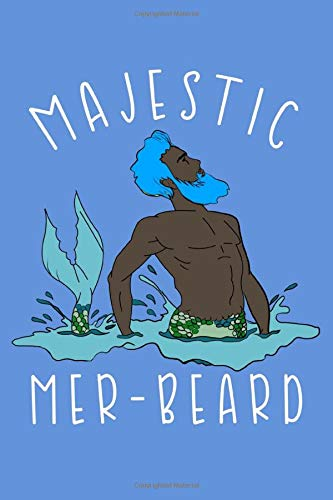 Majestic Mer-Beard: College Ruled Notebook