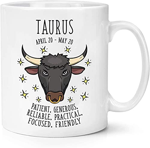 Taurus Horoscope - Taza de cerámica personalizada...