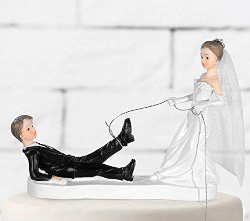 Tortenfigur Brautpaar Hochzeit Tortenaufsatz Tortendeko Hochzeitspaar für Torte von Haus der Herzen ®