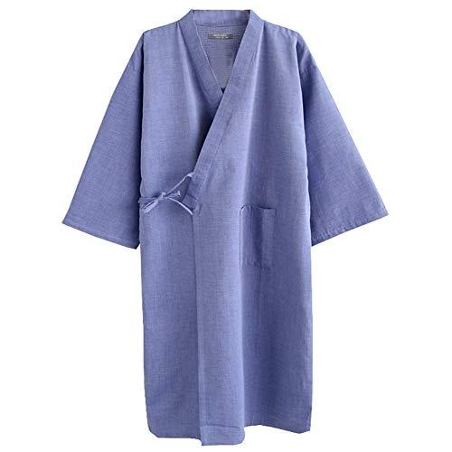 Trajes de Estilo japonés de los Hombres Pure Cotton Kimono