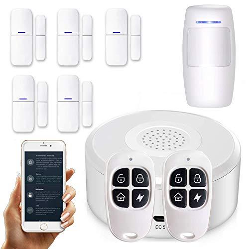 APP Version Française- Alarme de Maison sans Fil - Wi-FI -...