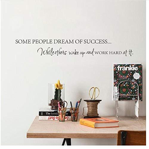 Wekker Werk Harde Dromen Motivationele Vinyl Muursticker DIY Decoratieve Inspirationele Citaat Muursticker Home Office Decoratie 60x10cm