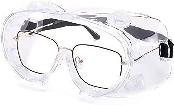 LOVIVER Schutzbrille Arbeitsschutzbrille transparent Vollsichtbrille f/ür Brillentr/äger Labor Arzt Chemie Erwachsene Kinder
