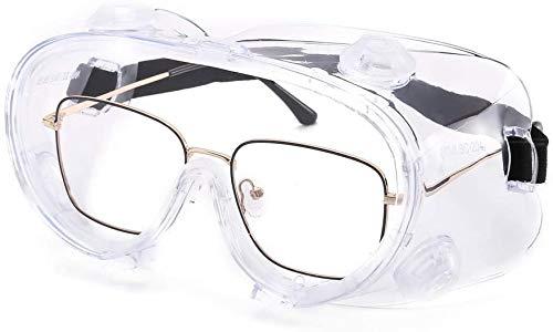 ORSEN Schutzbrille Arbeitsschutzbrille Vollsichtbrille Antibeschlag Antispeichel Augenschutzbrille transparent Überbrille Schleifbrille für Brillenträger Labor Arzt Chemie Erwachsene Kinder (1Pack)