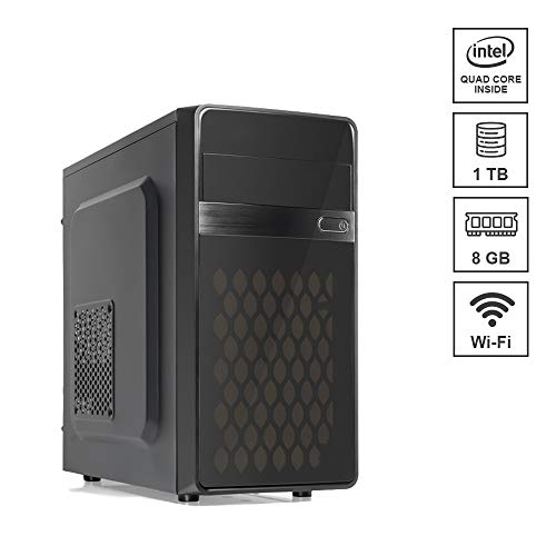 DILC Airo W Pc Desktop Intel Quad Core 2.00 ghz Ram 8 gb Hard Disk 1 tb WiFi Masterizzatore Licenza Windows 10 PRO