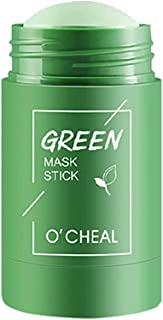 Green Tea Purifying Clay Face Mask, Oil Control Face Moisturizes Blackhead Remover Solid Fine Mask Facial Care, Deep Clean...