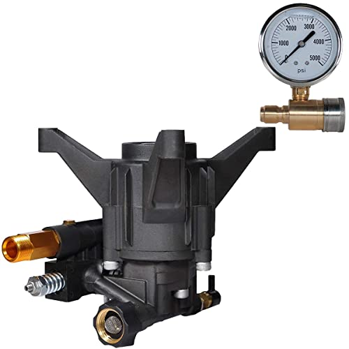 """YAMATIC New 7/8"""" Shaft Vertical Pump 3100 PSI with Pressure Washer Gauge"""