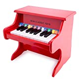 New Classic Toys Wooden Piano with Music Book for Toddlers 3 Years Old Boys and Girls Baby Gifts, Kids Musical...