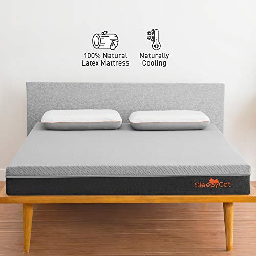 SleepyCat Premium Orthopedic Mattress | Made with 100% Organic Latex | 7-Zone Support | Naturally Cooling (78x72x7)