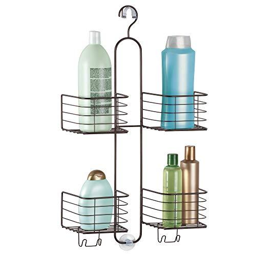 Buy Cheap iDesign Metalo Hose Bathroom Shower Caddy for Shampoo, Conditioner, Soap - Bronze