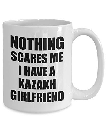 Kasachische Freundin Becher lustige Valentine Geschenk für Bf Mein Freund ihn Kasachstan Gf Gag Nichts Macht Mir Angst Kaffee Tee Tasse