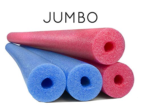 4 Pack Oodles Monster 55 Inch x 3.5 Inch Jumbo Swimming Pool Noodle Foam Multi-Purpose Assorted