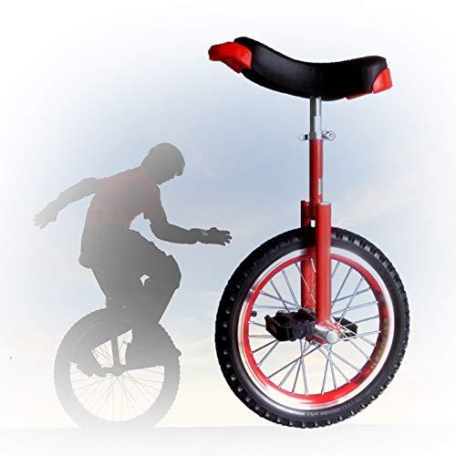 GAOYUY Monociclo De Rueda De 16/18/20/24 Pulgadas, Monociclo Trainer Freestyle Pedales De Plástico Redondeados Sillín Ergonómico Contorneado para Principiantes (Color : Red, Size : 24 Inch)