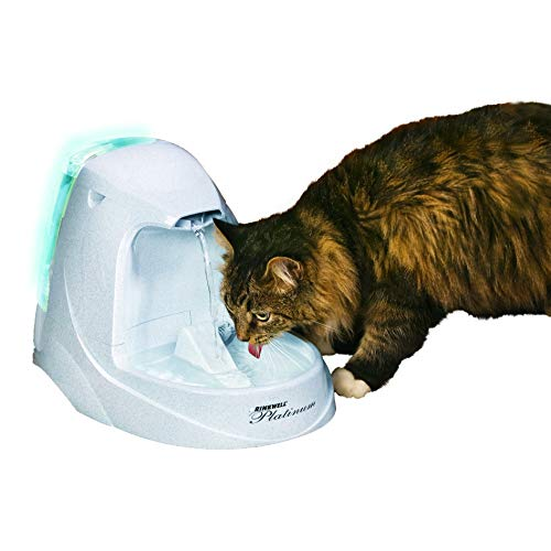 Petsafe Drinkwell Platinum Pet Fountain with LED Light Pump