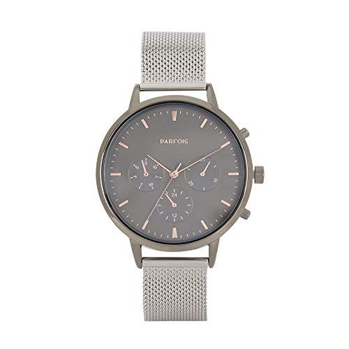 Parfois - Reloj Casual Silver Tray - Mujeres - Tallas Única...