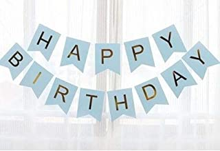 Party Propz Blue Happy Birthday Banner For Birthday Decoration Items For Boys Kids Men Adults- SUITABLE Birthday banner fo...