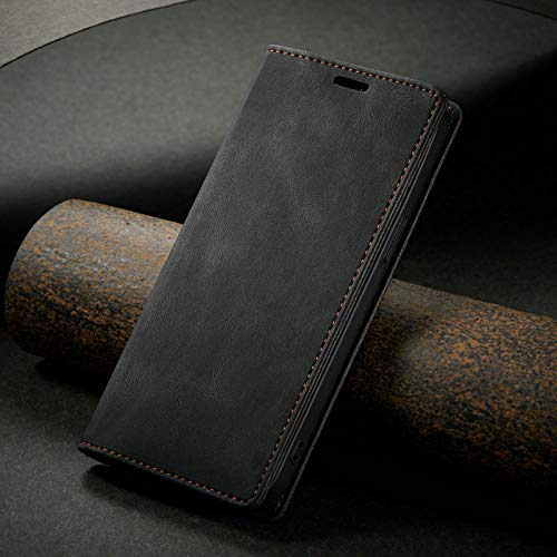 ZXMDP para iPhone 12 11 Pro XS MAX Mini XR Funda con Tapa para teléfono para iPhone 7 8 6 6s Plus, con Ranura para Tarjeta, Negro, para iPhone 12
