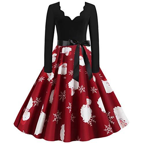 Damen Weihnachtspullover Weihnachtsdeko Cocktailkleid Pullover Kleider Sexy Spitze Kleidung Weihnachtsmann Elch Schlitten Druchen Party Swing Festlich Kleid