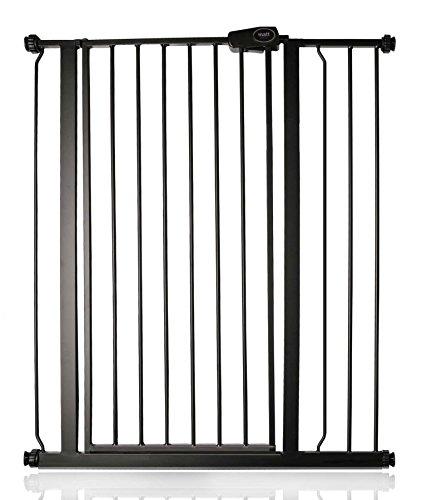 Safetots Enfant et Animal Barrière de Sécurité à Fixation par Pression extra haute Noire Mat 87.9cm - 95.5cm