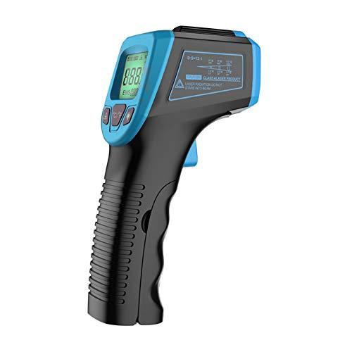 KKmoon Digital Infrarot Thermometer -50 bis +600°C, IR Pyrometer berührungslos Temperaturmessgerät Temperaturmesser LCD Beleuchtung Blau
