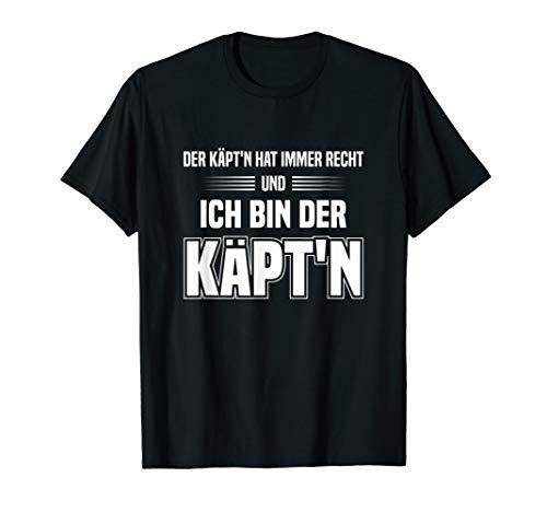Kapitän Geschenk Boot Käptn Boote Schiff Schiffe Meer Spruch T-Shirt