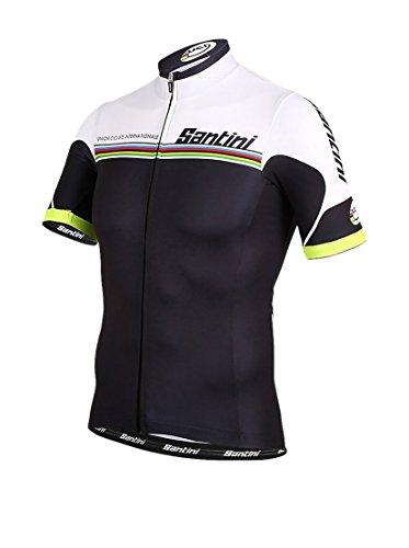 Santini Replica CAS1870XL - Maillot de Ciclismo para Hombre, Color Negro/Blanco, Talla...