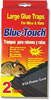 Blue Touch Mouse Glue Traps, Excellent Mouse Glue Traps Glue Boards for Rats, Mice and Pests. Large Size. 0.8 x 8.5 x 4.5 inches - 8 Packs/16 Traps (Red)