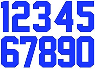 """8/"""" Tall Iron-On Number for Football Baseball Jersey Sports T-Shirt Style #4"""