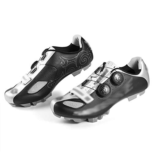 LQX Mens MTB Cycling Shoes Self-Locking Mountain Bicycle Shoe Breathable Non-Slip Cycle Shoe Rotating Outdoor Sports Bike Shoes for Travel Racing (Size : UK11.5/EU45/US12)