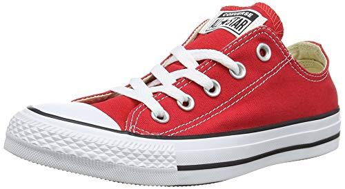 Converse Chuck Taylor All Star Canvas Low Top Sneaker, red ,9.5 Men/11.5 Women