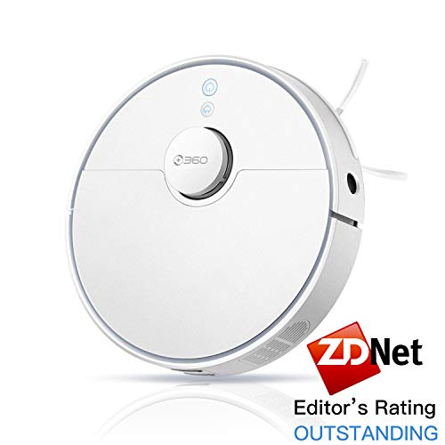 360 S5 Robot Vacuum Cleaner with Laser Mapping Technology, 2200Pa, Selective Room Cleaning, Schedule, Multi-Floor Mapping, No-Go Zones, Self Charge and Resume, Automatic Carpet Boost, Works with Alexa Dining Features Kitchen Robotic Vacuums