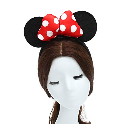 ZADAWERK® Haarreif - Mini Mouse - Erwachsene - Rot - Kostüm - Karneval