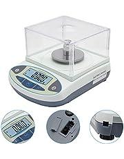 Bonvoisin 0.001g Balanza Analítica Electrónica Báscula de Laboratorio de Alta Precisión de 1mg Balanza Científica Balanzas de Joyería Balanza de Cocina Dorada Balanza con Parabrisas