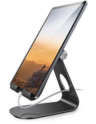 Lamicall Stojak na tablet, regulowany uchwyt na tablet - Stacja dokująca do nowego iPad 2020 Pro 9.7, 10.5, 12.9, Air mini 2 3 4, Switch, Samsung Tab, iPhone, inne tablet - Czarny