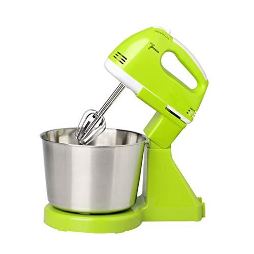 Hemoton Elektro-Handmixer Professionelle Sahne Teig Schneebesen Mixer Brotbackmaschine Schläger Schneebesen Ei Mischmaschine für zu Hause Küche Grün